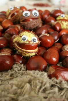 Kasztanowe potwory | Conker craft for kids Autumn Leaves Craft, Autumn Crafts, Autumn Art, Nature Crafts, Animal Crafts For Kids, Kids Crafts, Art For Kids, Diy Candle Holders, Diy Candles