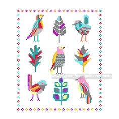 Fairy birds PDF Counted cross stitch pattern by galabornpatterns
