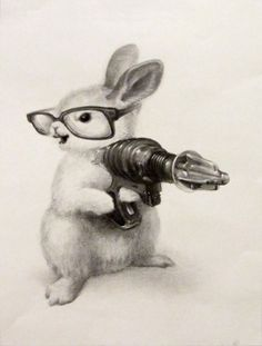 bunny with glasses (minus laser gun)