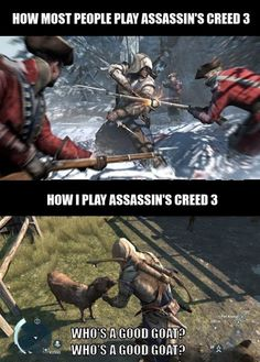 I don't play assassin's creed, but this is hilarious. Gamer Humor, Gaming Memes, Video Games Funny, Funny Games, Video Game Quotes, Video Game Logic, Gamify Your Life, Skyrim, Assasins Cred