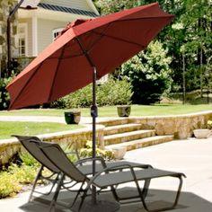 "7.5 ft Aluminum ""Windy City"" Flexible Tilt Patio Umbrella. Only $97.00 FREE Shipping. #PatioUmbrellas"