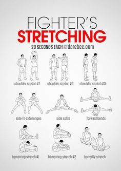 The Fighter's Stretching guide is a great exercise for Martial Arts. www.masteredmond.com