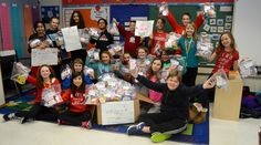 Exton Elementary collects non-perishable food items for Saint Agnes Day Room and West Chester Food Cupboard! #WCASD #community