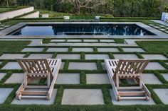 After a recent interior renovation, completed by Andrew Skurman Architects, we mirrored the refined appearance of the home's interior throughout the landscape. Classically-inspired plant borders and great expanses of lawn, as well as upgraded terraces and pathways of custom bush-hammered bluestone, give a seamless unity to the architecture and the grounds. With sustainability in mind,...  Read more »