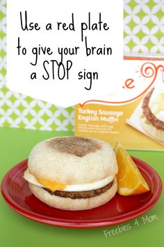 Use a red plate to give your brain a STOP sign #WowThatsGood #shop http://freebies4mom.com/balanced/