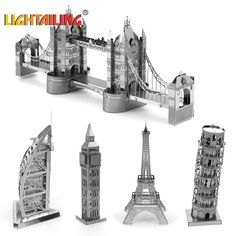 Nano DIY 3D architectural model building metal From educational toys for toddlers@#MWLXC
