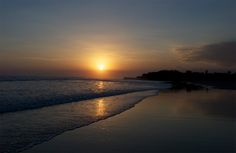 Sunsets on the beach. This picture was taken in Bali, can't wait to see this in person in a few weeks!
