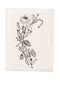 Tatto Ideas 2017 – WILDFLOWERS Art Print by NADEZDA FAVA | Society6