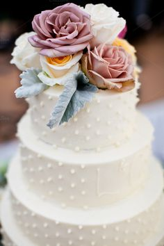 Wedding cake by Muriel Silva Photography on @creativemarket