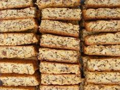 """I grew up in a household where we always ate fabulous homemade rusks. My mom was THAT """"tannie"""" who could bake the best """"mosbolletjies"""" and buttermilk rusks in the whole tow… Kos, Baking Tins, Baking Recipes, Easy Recipes, Baking Store, Baking Breads, Sweet Recipes, Buttermilk Rusks, Rusk Recipe"""