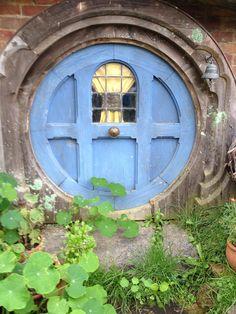 Blue hobbit door