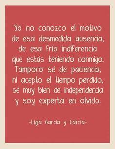 Ligia García y García.