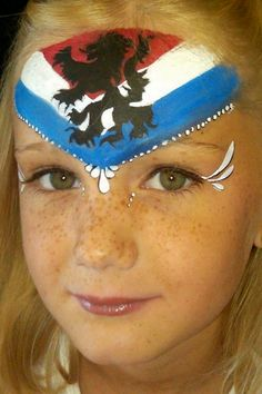 face painting dutch flag