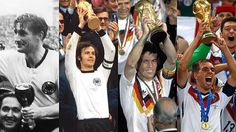 Weltmeister 1954,1974,1990, 2014