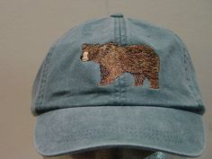 BROWN BEAR Hat One Embroidered Wildlife Cap by priceapparel