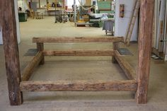 betten bed on pinterest reclaimed wood beds beams and beds. Black Bedroom Furniture Sets. Home Design Ideas