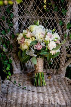 rambling rose wedding bouquet
