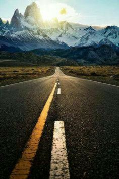 One foot in front of the other is the beginning to new journey #road #path #journey #snow #mountains #travel