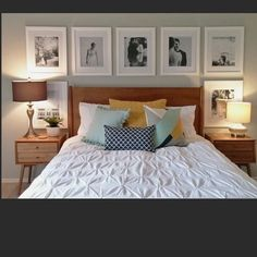 Bedroom Wall Decor Above Bed Photos 40 Ideas Bed Photos, Bedroom Photos, Home Bedroom, Master Bedrooms, Bedroom Pictures Above Bed, Girl Bedrooms, Bedroom Wall Decor Above Bed, Bed Wall, Bedroom Decor
