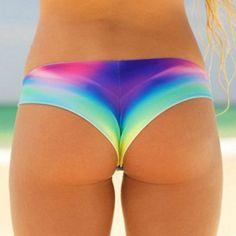$7.82 Stylish Low Waist Tie Dye Bikini Briefs For Women