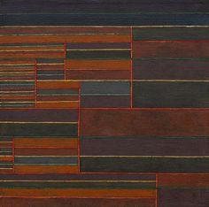 """Paul Klee (Swiss, 1879 –1940), In der Strömung sechs Schwellen [In the Current Six Thresholds], 1929. Oil and tempera on canvas, 17 ⅛ × 17 ⅛ in (43.5 × 43.5 cm). """
