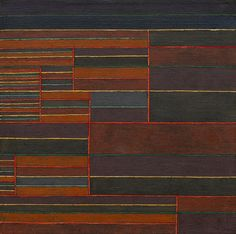 """Paul Klee (Swiss, 1879 –1940), In der Strömung sechs Schwellen [In the Current…"