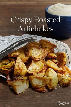 Crispy Roasted Artichokes via @PureWow via @PureWow