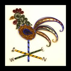 quilled rooster weather vane