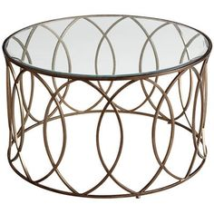 "The newest starlet to feature in your living room? Our Elana Coffee Table. Graceful and topped by beveled glass, her hand-forged geometric design works well with any supporting cast of furniture. Also known as the ""it goes with anything"" factor. Plywood Furniture, Furniture Decor, Furniture Design, Custom Furniture, Coffee Table Pier 1, Modern Coffee Tables, Gold Round Coffee Table, Design Minimalista, White Dining Table"