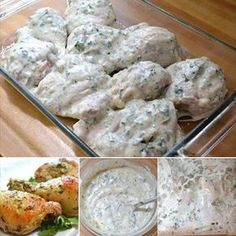 Greek Marinated Chicken EASY Marinating time) , bake/grill Greek chicken marinade, with yogurt,parsley, etc. Plus a bomb diggity lemon couscous salad recipe Greek Marinated Chicken, Baked Chicken, Chicken With Greek Yogurt, Greek Style Chicken, Moist Chicken, Couscous Salad Recipes, Chicken Marinades, Marinade Chicken, Cooking Recipes
