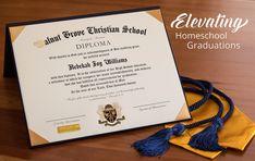 Homeschool Diploma - Elevating Homeschool Graduations Homeschool Diploma, Homeschool High School, Homeschooling In Texas, Christian School, Teaching History, Graduation Announcements, 4 Year Olds, Home Schooling, Curriculum