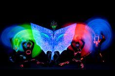 Anta Agni UV LIGHT Show - dancers and acrobats under LED black light http://antaagni.com/uv-light-show/