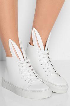 高价位Finds|+ Minna Parikka Bunny leather high-top sneakers|NET-A-PORTER.COM