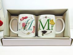 Bone China Mug Gift Sets - Mr and Mrs #mug #mr&mrs #giftideas