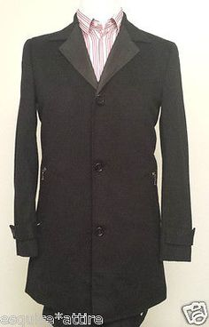 Coats , Jacket: Michael Kors men size S (about 40 Long) #cashmere blend black coat MichaelKors withing our EBAY store at  http://stores.ebay.com/esquirestore