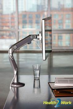 De flatscreenarm M8 van Humanscale is geschikt voor zware monitoren