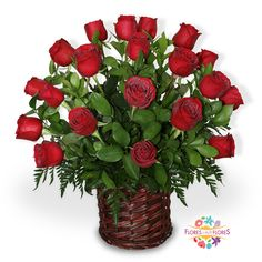 VENUS | F-0059 Hermoso Bouquet de rosas en canasto, que sorprende a todos en el Día del Amor y la Amistad. $1, 090 + envío