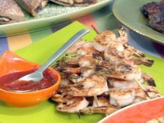 """Grilled Shrimp with Asian Style """"Cocktail"""" Sauce from CookingChannelTV.com"""