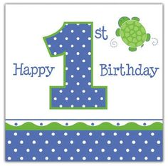 Creative Converting Mr Turtle Happy 1st Birthday Luncheon Napkins 16Count *** Details can be found by clicking on the image.