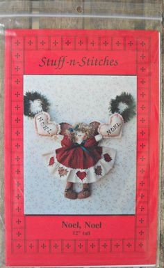 Noel, Noel Doll Pattern, by Stuff-N-Stitches, Vintage 1993 by CurlicueCreations on Etsy