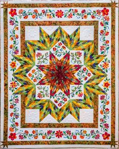 GSAQG Raffle Quilt, applique design by Holly H. Nelson | Holly Quilts