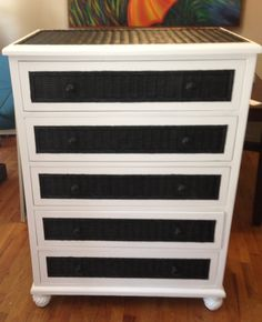 Cool Black And White Dresser. Redesigns By Dorothy.