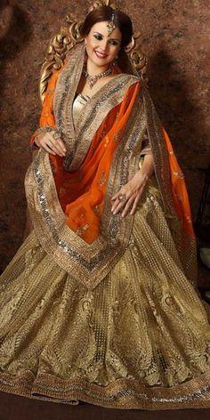 Precious Orange Net Saree With Blouse.