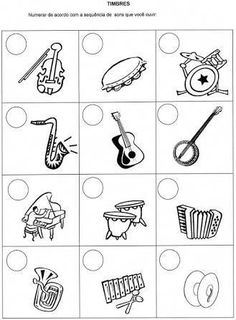 Musical instruments that make sounds Music Lessons For Kids, Music Lesson Plans, Music For Kids, Piano Songs For Beginners, Preschool Music Activities, Music Worksheets, Music Crafts, Music And Movement, Piano Teaching