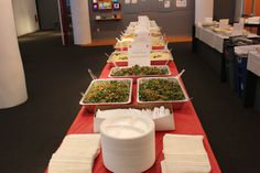 Office Catering for 700 Employees! Tabbouleh salad, Hummus, Chicken Shawarma, Moujadara, Rice Pilaf, and Toum of course!