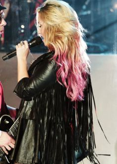 Demi Lovato hair...love to try this one day when my hair gets way longer..super cute!