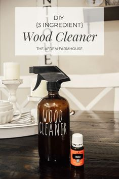 DIY Natural Wood Cleaner, Homemade Wood Oil, Wood Polish, Essential Oil DIY - The Afdem Farmhouse Posts - Lebensraum Natural Wood Cleaner, Natural Cleaners, Diy Wood Floor Cleaner, Young Living Oils, Young Living Essential Oils, Limpieza Natural, Cleaners Homemade, Homemade Cleaner Recipes, Homemade Wood Cleaner