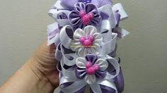 DIY decora balacas con moños y flores en cinta paso a paso. Manualidadeslahormiga
