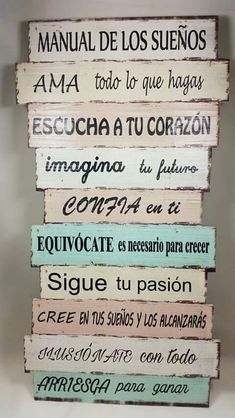 Motivational Phrases, Inspirational Quotes, Spanish Quotes, New Years Eve Party, Diy Wall Decor, Interior Design Living Room, Hand Lettering, Decoupage, Sweet Home