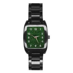 Green Moss Stainless Steel Barrel Watch